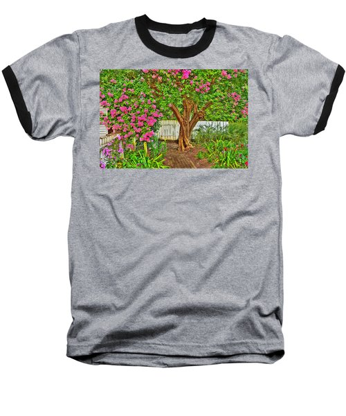Baseball T-Shirt featuring the photograph Crepe Myrtle In Wiliamsburg Garden by Jerry Gammon