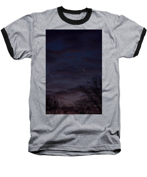 Crescent Moon And Venus Rising Baseball T-Shirt