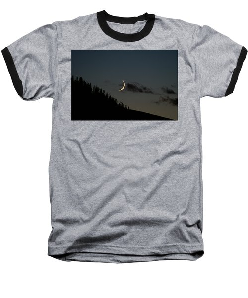 Baseball T-Shirt featuring the photograph Crescent Silhouette by Jeremy Rhoades