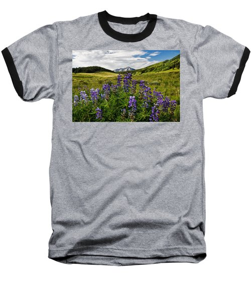 Crested Butte Lupines Baseball T-Shirt