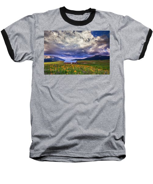 Crested Butte Morning Storm Baseball T-Shirt