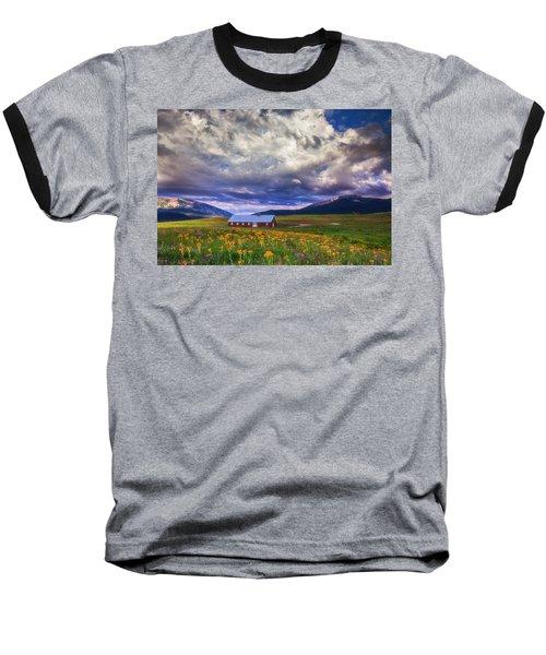 Crested Butte Morning Storm Baseball T-Shirt