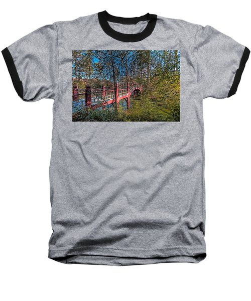 Baseball T-Shirt featuring the photograph Crim Dell Bridge by Jerry Gammon