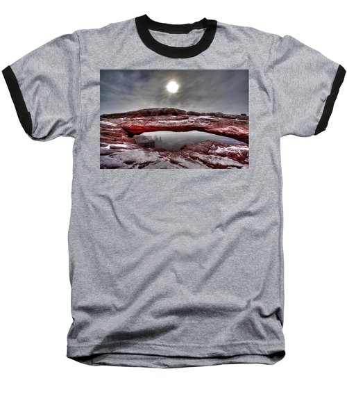 Baseball T-Shirt featuring the photograph Crimson Arch by David Andersen