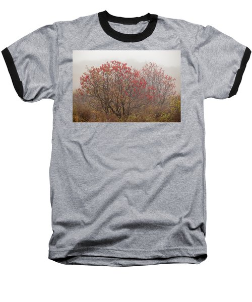 Crimson Fog Baseball T-Shirt