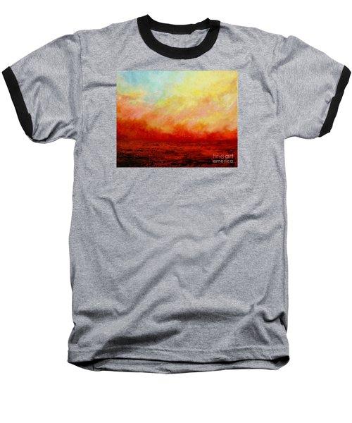 Crimson Baseball T-Shirt by Teresa Wegrzyn
