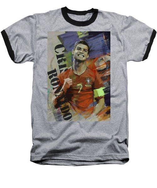 Cristiano Ronaldo - B Baseball T-Shirt by Corporate Art Task Force