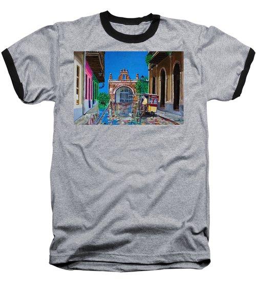 Capilla De Cristo - Old San Juan Baseball T-Shirt