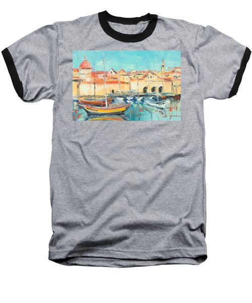 Croatia - Dubrovnik Harbour Baseball T-Shirt