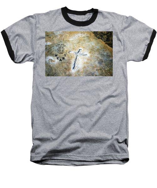 Cross And Heart Baseball T-Shirt