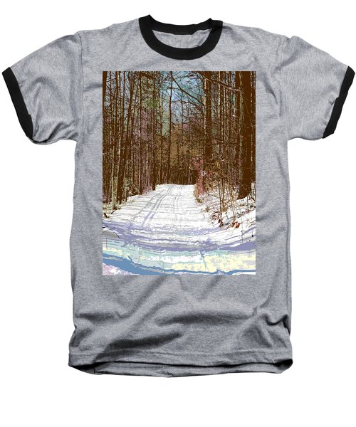 Baseball T-Shirt featuring the photograph Cross Country Trail by Nina Silver