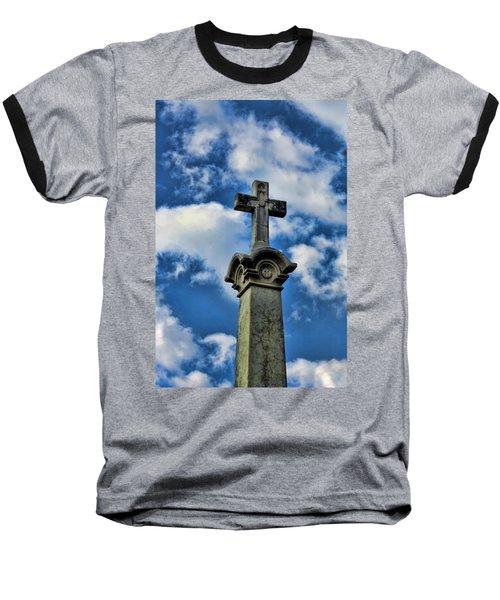 Baseball T-Shirt featuring the photograph Cross Face 3 by Lesa Fine