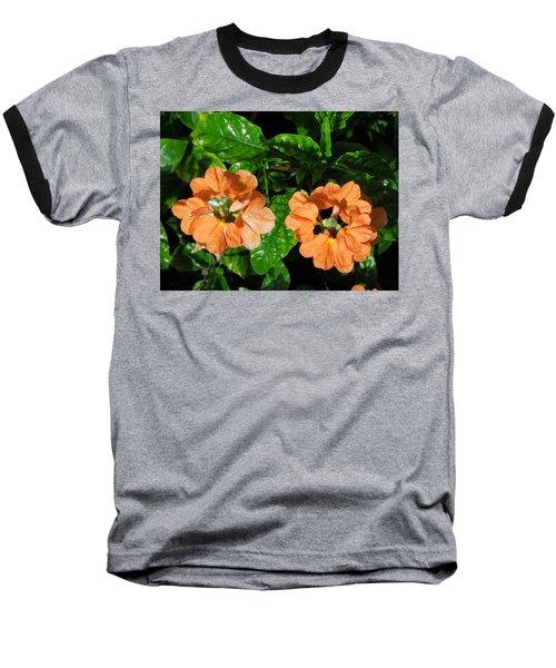 Baseball T-Shirt featuring the photograph Crossandra by Ron Davidson
