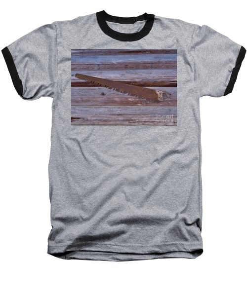Crosscut Saw Baseball T-Shirt by D Hackett
