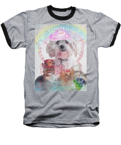 Crossing Over Rainbow Bridge Baseball T-Shirt