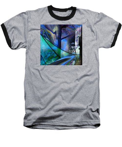 Baseball T-Shirt featuring the painting Crossing Roads by Allison Ashton