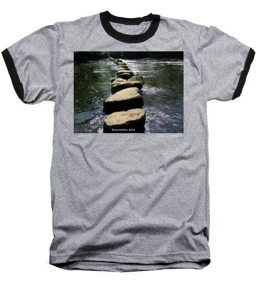 Baseball T-Shirt featuring the painting Crossing The Creek by Bruce Nutting