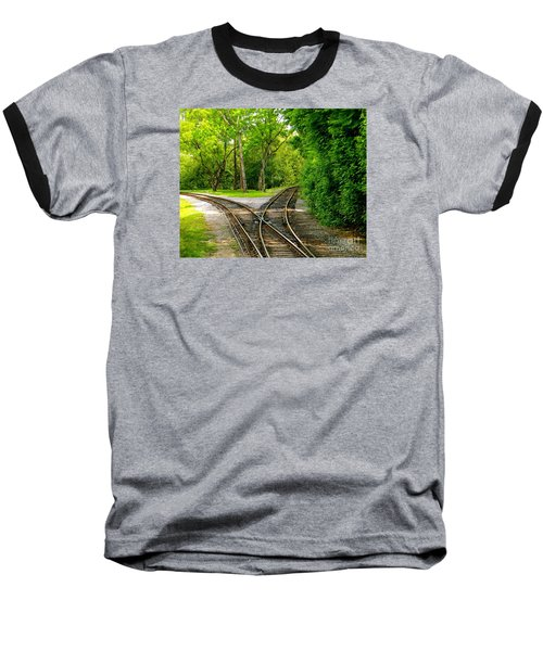 Baseball T-Shirt featuring the photograph Crossing The Lines by Joy Hardee
