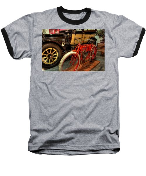 Crouch Motorcycle Baseball T-Shirt