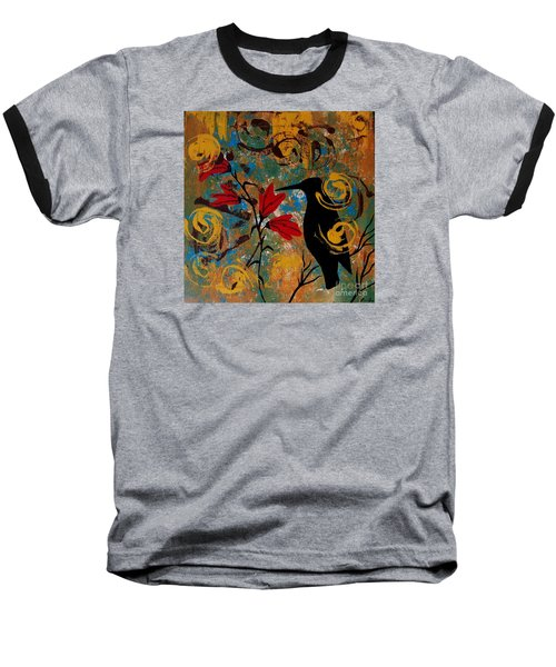 Crow Healing In The Ancient Garden Baseball T-Shirt