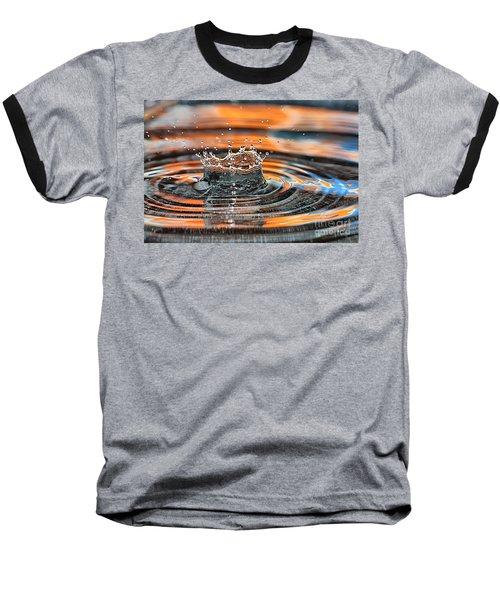 Crown Shaped Water Drop Macro Baseball T-Shirt