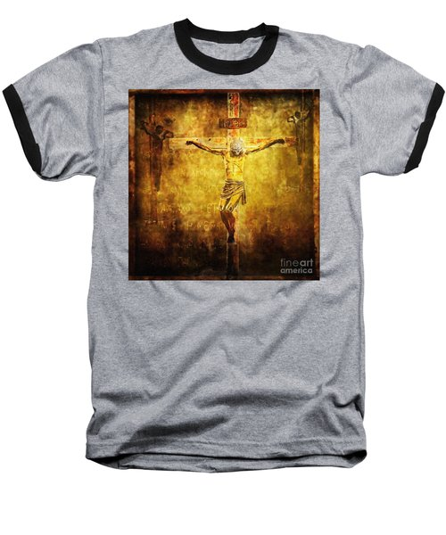 Crucified Via Dolorosa 12 Baseball T-Shirt