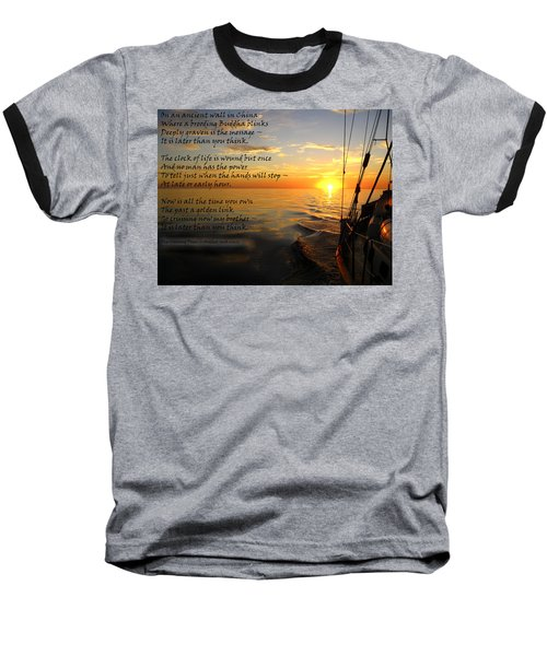 Cruising Poem Baseball T-Shirt