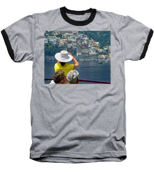 Cruising The Amalfi Coast Baseball T-Shirt by Keith Armstrong