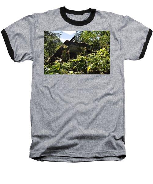Crumbling Down Baseball T-Shirt by Cathy Mahnke