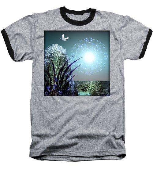 Crystal Breathing Rock Baseball T-Shirt by Rosa Cobos