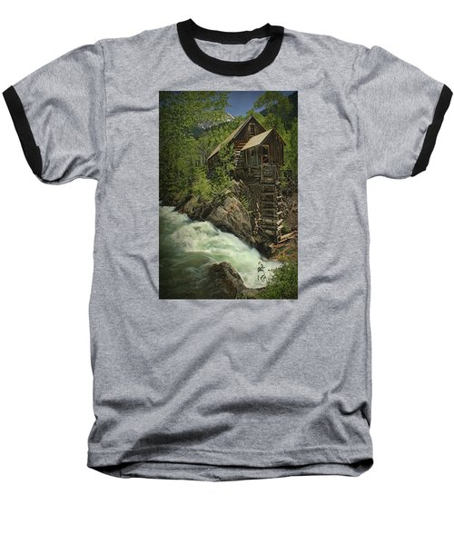 Baseball T-Shirt featuring the photograph Crystal Mill by Priscilla Burgers