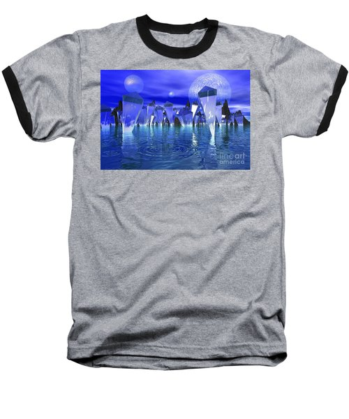 Baseball T-Shirt featuring the photograph Crystal River by Mark Blauhoefer