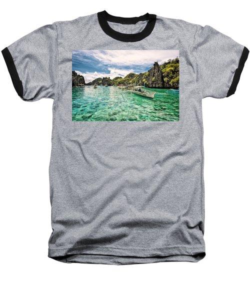 Crystal Water Fun Land Baseball T-Shirt by John Swartz