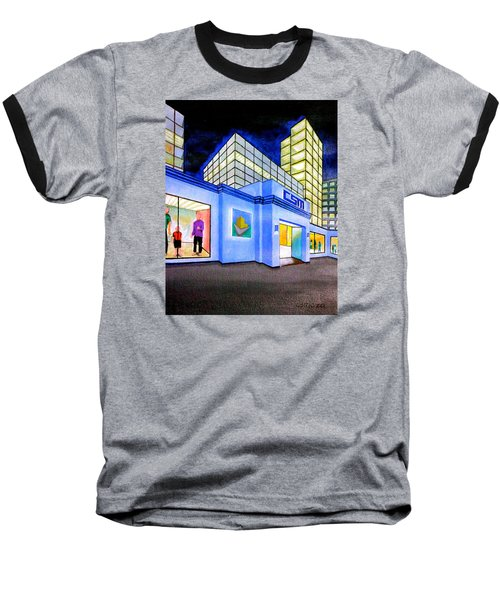 Baseball T-Shirt featuring the painting Csm Mall by Cyril Maza
