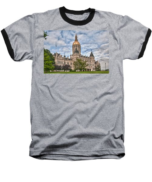 Ct State Capitol Building Baseball T-Shirt