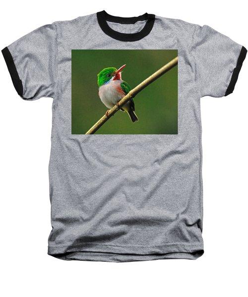 Cuban Tody Baseball T-Shirt by Tony Beck