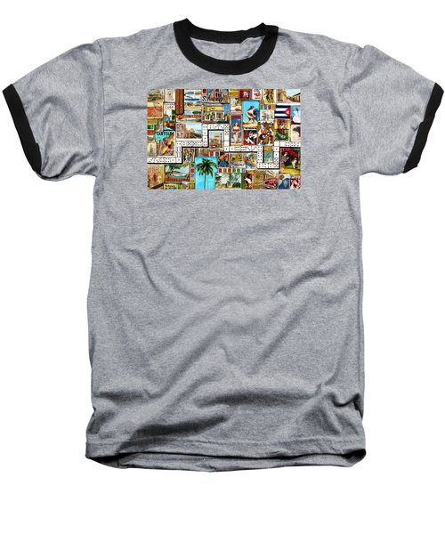 Baseball T-Shirt featuring the painting Cubana by Joseph Sonday