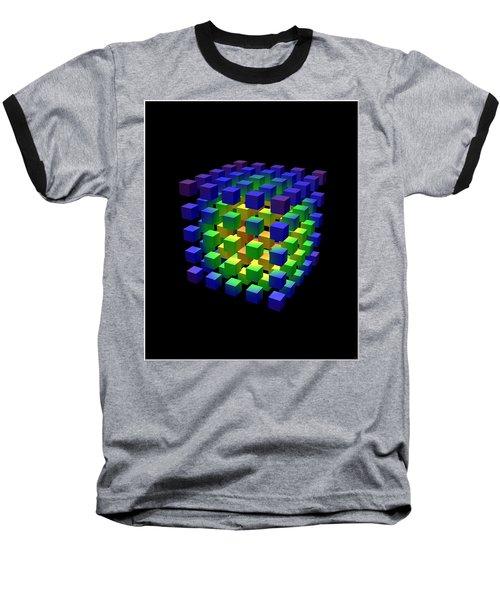 Baseball T-Shirt featuring the digital art Cube Of Cubes... by Tim Fillingim