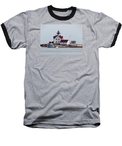 Cuckholds Lighthouse Baseball T-Shirt by Catherine Gagne