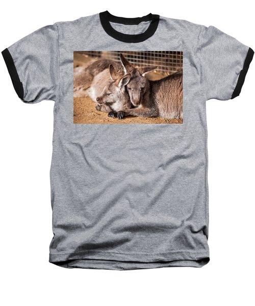 Cuddling Kangaroos Baseball T-Shirt