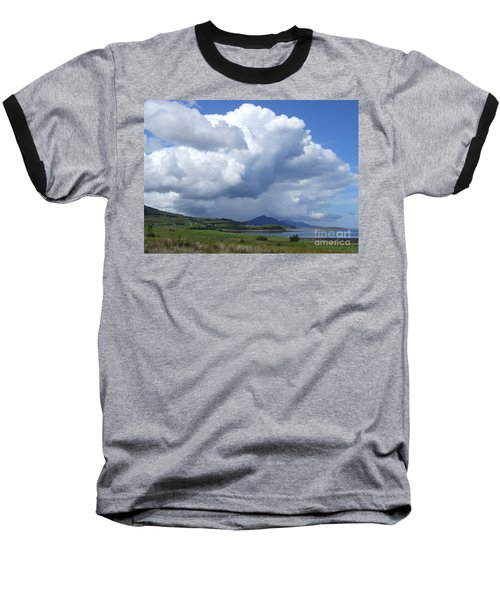 Baseball T-Shirt featuring the photograph Cumulus Clouds - Isle Of Skye by Phil Banks