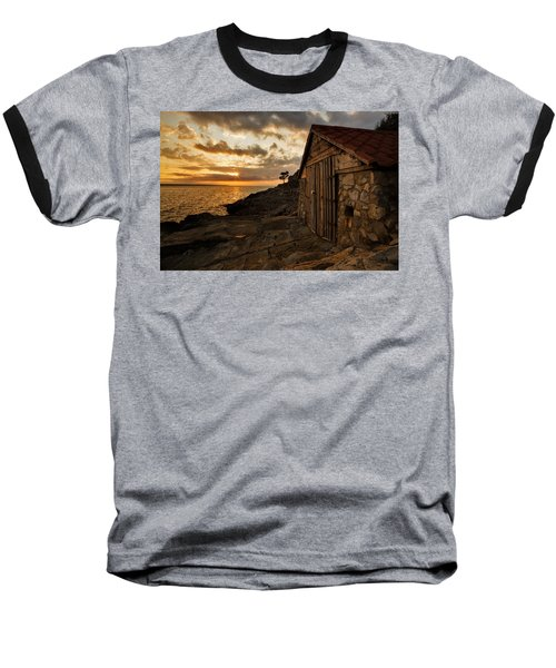 Cunski Beach At Sunrise Baseball T-Shirt