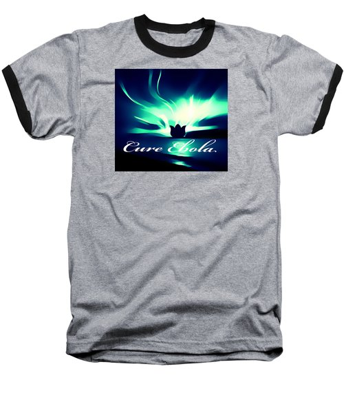 Baseball T-Shirt featuring the photograph Cure Ebola by Eddie Eastwood
