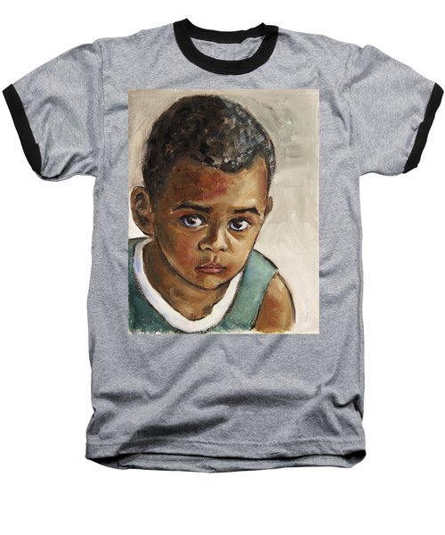 Curious Little Boy Baseball T-Shirt