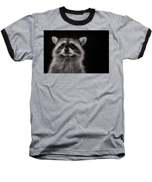 Curious Raccoon Baseball T-Shirt
