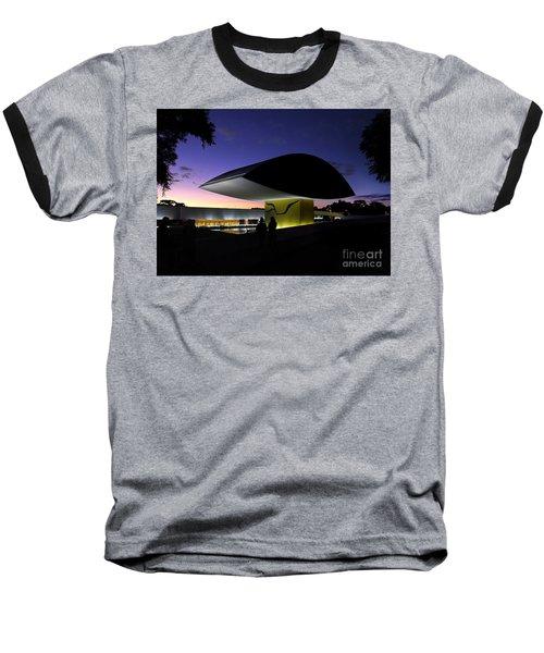 Curitiba - Museu Oscar Niemeyer Baseball T-Shirt