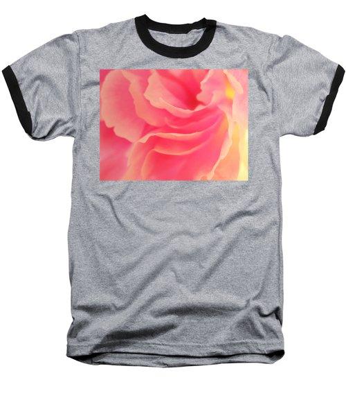 Curling Blossom Baseball T-Shirt