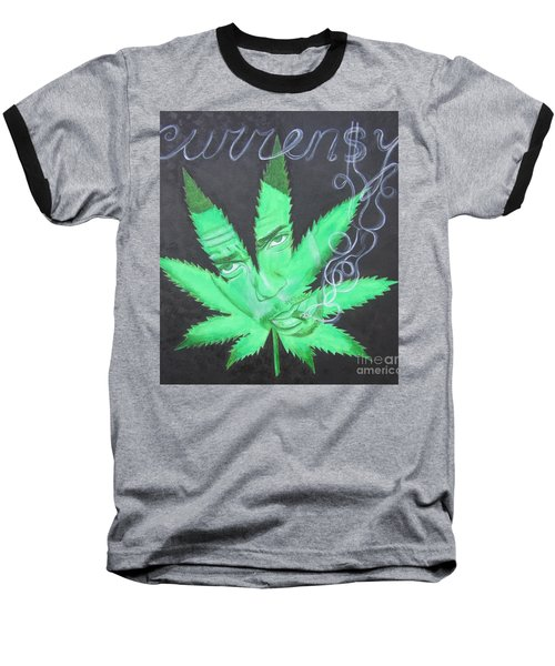 Baseball T-Shirt featuring the painting Currensy by Jeepee Aero