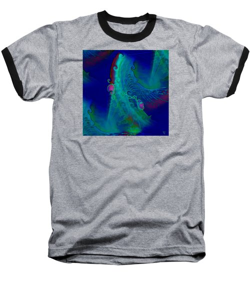 Cursive Baseball T-Shirt by  Fli Art