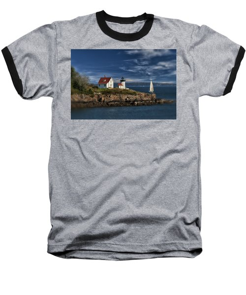 Curtis Island Lighthouse Maine Img 5988 Baseball T-Shirt by Greg Kluempers